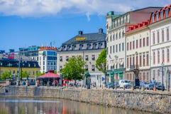 Rivière de Gothia à Gothenburg du centre Photo stock