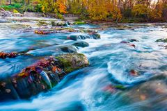 Rivière de Hocking en Ohio Photo stock