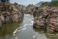 Rivière de Hogenakkal Cauvery Photographie stock