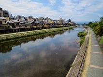 Rivière de Kamo à Kyoto photographie stock libre de droits