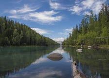 Rivière de Kanas Image libre de droits