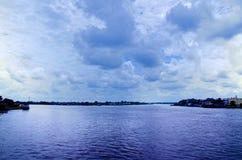 Rivière de Kapuas Photographie stock libre de droits