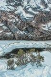 Rivière de Kitkajoki dans le paysage de parc national de Korouoma Images libres de droits