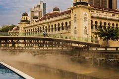 Rivière de Klang dans Kuala Lumpur Malaysia du centre images libres de droits