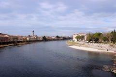 Rivière de l'Adige Photos libres de droits