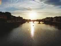 Rivière de l'Arno Photos stock