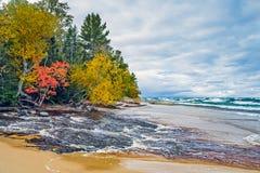 Rivière de l'ouragan du Michigan Photos libres de droits