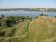 Rivière de l'Ukraine Dniepr d'été Image libre de droits