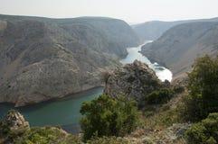 Rivière de la Croatie Zrmanja dans le film de winnetou Images stock