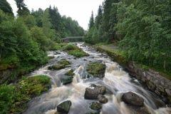 Rivière de la Finlande Vantaa Photos libres de droits