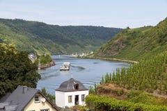 Rivière de la Moselle images libres de droits