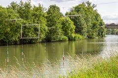 Rivière de la Moselle, Metz, France photographie stock libre de droits