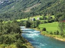Rivière de la Norvège Images libres de droits