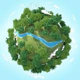 rivière de la planète 3D Photo libre de droits