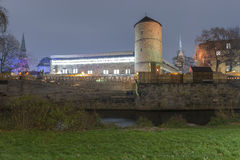 Rivière de Leine à la vieille ville de Hannovre Images libres de droits