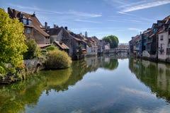 Rivière de Loue dans Ornans Photographie stock
