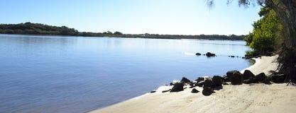 Rivière de Maroochy, côte de soleil, Queensland, Australie images libres de droits