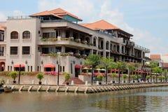 Rivière de Melaka Images libres de droits