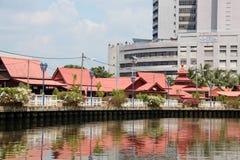 Rivière de Melaka Photographie stock