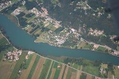 Rivière de Mera - un camping Photo libre de droits