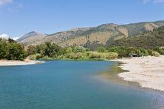 Rivière de Mingardo, Palinuro Italie photos libres de droits