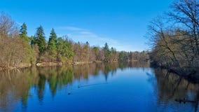 Rivière de miroir à Stuttgart - en Allemagne Image libre de droits