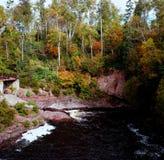 Rivière de modération Autumn Highlights - Minnesota Image stock