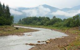 Rivière de montagne Photographie stock libre de droits