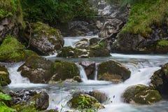 Rivière de montagne - cascade de petites cascades image libre de droits