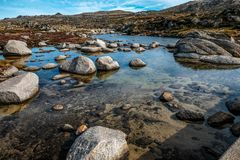 Rivière de montagne de Milou Image libre de droits