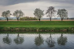 Rivière de Morava dans la République Tchèque Image libre de droits