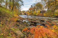 Rivière de Morrum dans des couleurs d'automne Photographie stock libre de droits