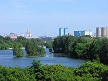Rivière de Moscou, Russie Photographie stock libre de droits