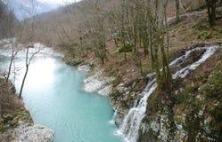Rivière de Nadiza près de Napoleon Bridge Photographie stock