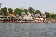 Rivière de Narmada à Jabalpur photo libre de droits