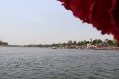 Rivière de Narmada à Jabalpur photo stock
