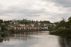 Rivière de nidelva de Trondheim Images libres de droits
