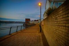 Rivière de nuit Photos libres de droits