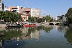 Rivière de Porsuk à Eskisehir Photos libres de droits