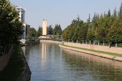 Rivière de Porsuk à Eskisehir Image libre de droits