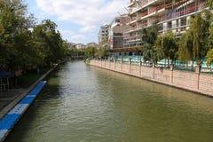 Rivière de Porsuk à Eskisehir Photo stock