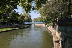 Rivière de Porsuk à Eskisehir Image stock