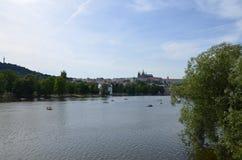 Rivière de Prague Images libres de droits