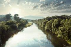 Rivière de Raba en Pologne Images libres de droits