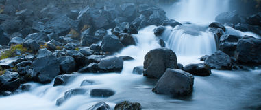 Rivière de rapide en Islande Photos libres de droits