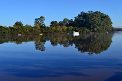 Rivière de Santa LucÃa, Uruguay Photographie stock libre de droits