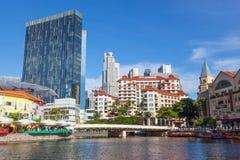 Rivière de Singapour Image libre de droits