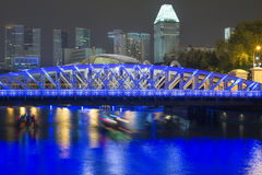 Rivière de Singapour Photo libre de droits