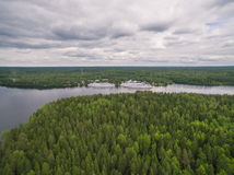 Rivière de Svir, Carélie, Russie photos libres de droits
