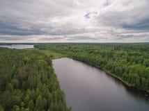 Rivière de Svir, Carélie, Russie Photo libre de droits